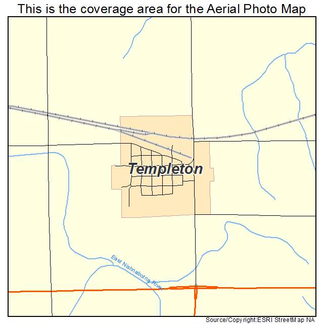 Templeton Iowa Map.Aerial Photography Map Of Templeton Ia Iowa