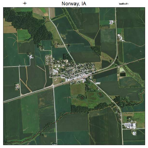 Aerial Photography Map Of Norway IA Iowa - Norway iowa map