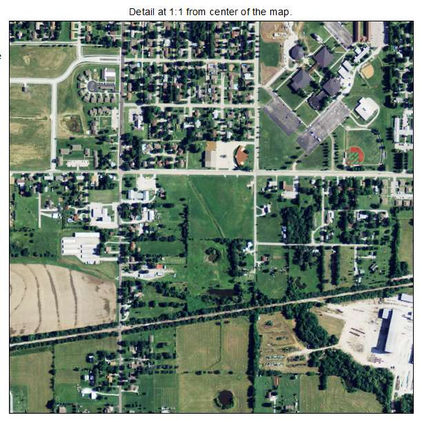 Chanute Kansas Map.Aerial Photography Map Of Chanute Ks Kansas