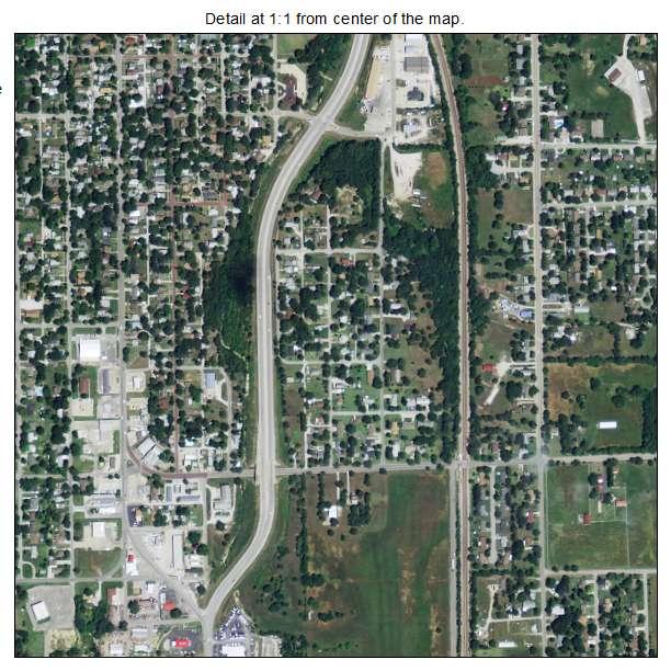 Fort Scott, Kansas aerial imagery detail