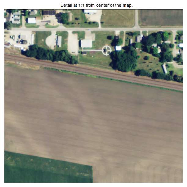 Perry, Kansas aerial imagery detail