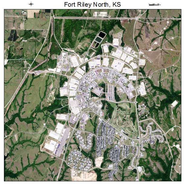 Fort Riley North, KS air photo map