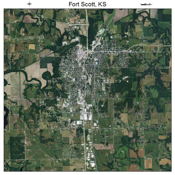 Fort Scott, KS air photo map
