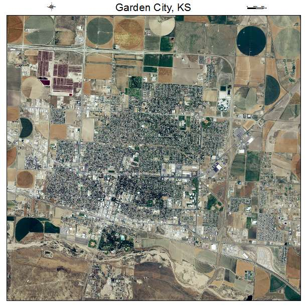 aerial photography map of garden city ks kansas