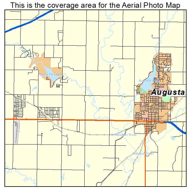 Aerial Photography Map Of Augusta KS Kansas