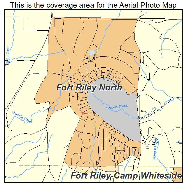 Fort Riley North, KS location map