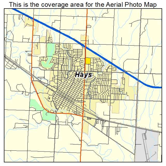 Aerial Photography Map Of Hays Ks Kansas
