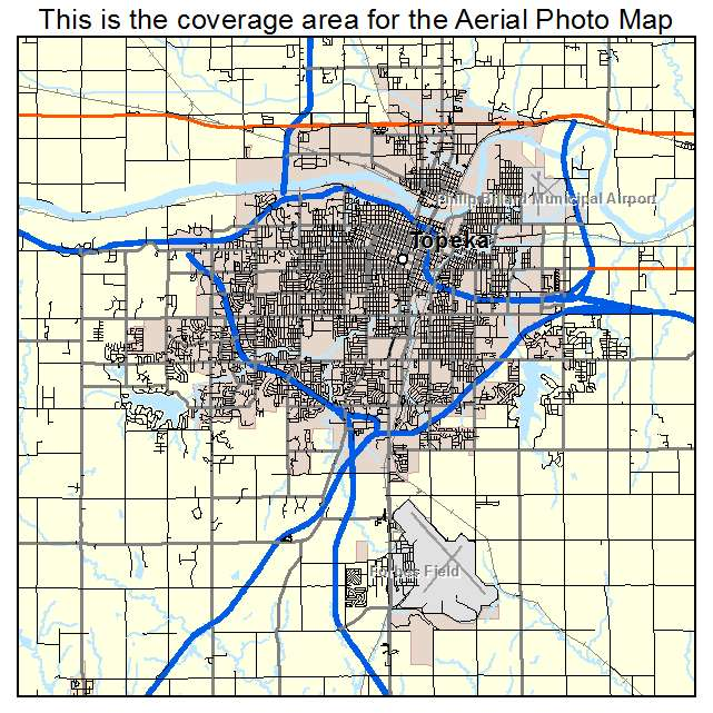 Aerial Photography Map Of Topeka KS Kansas
