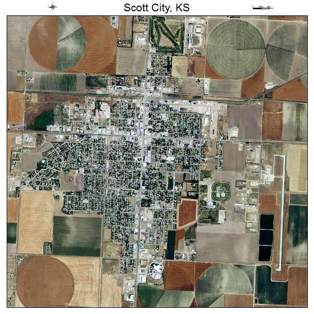 Scott City Ks >> Aerial Photography Map of Scott City, KS Kansas