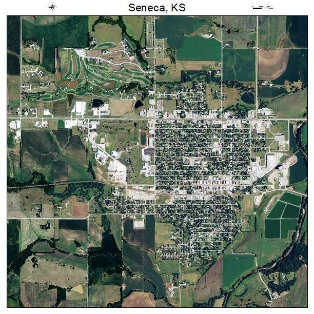 Seneca, KS Kansas Aerial Photography Map 2015