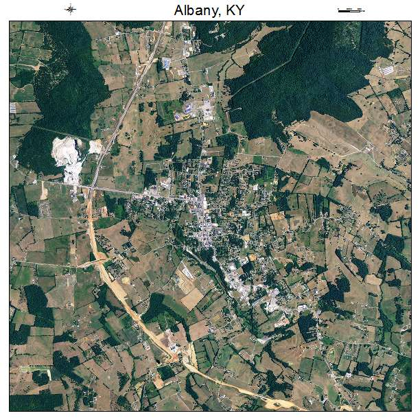 Albany, KY air photo map