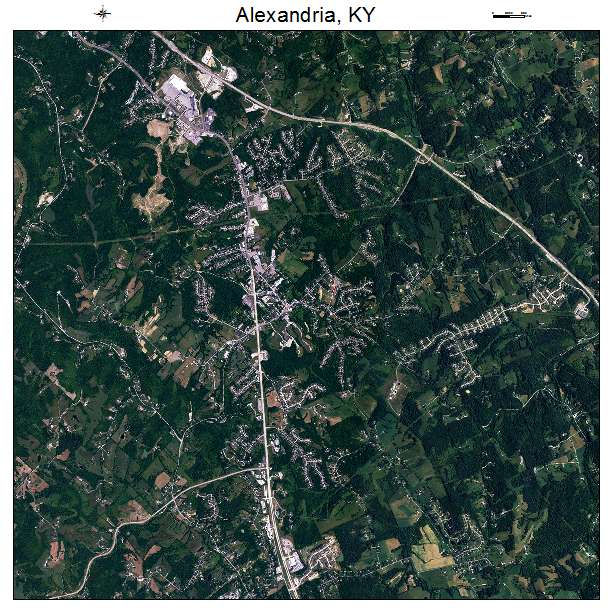 Alexandria, KY air photo map