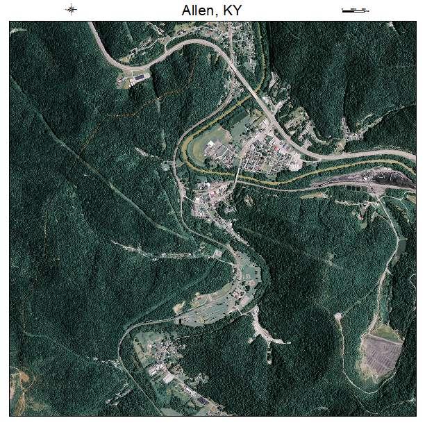Allen, KY air photo map