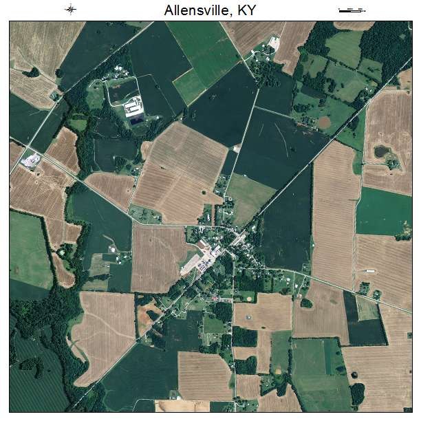 Allensville, KY air photo map
