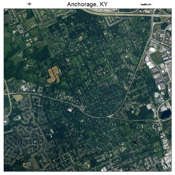 Anchorage, KY air photo map