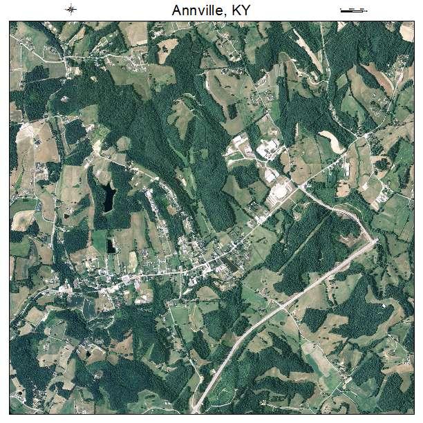 Annville, KY air photo map