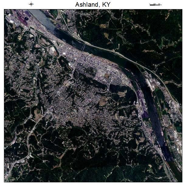 Ashland, KY air photo map