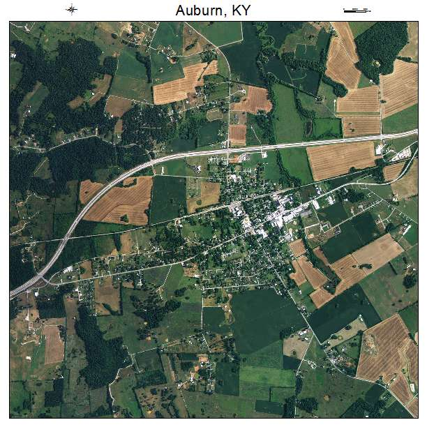 Auburn, KY air photo map