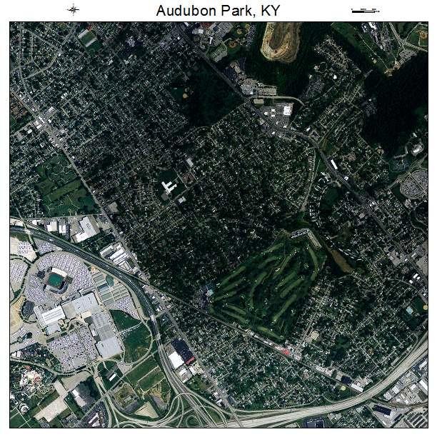 Audubon Park, KY air photo map
