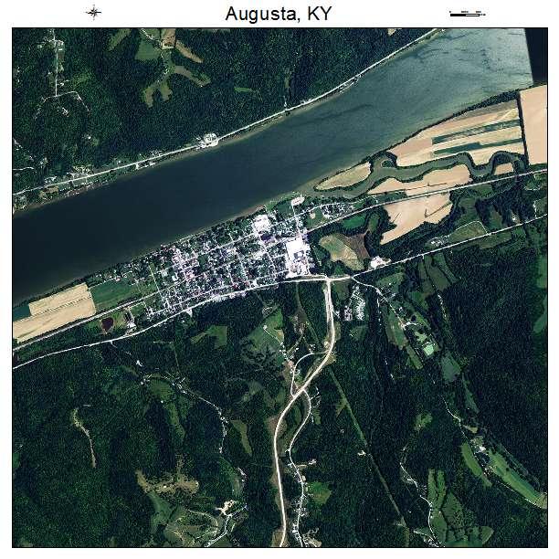Augusta, KY air photo map
