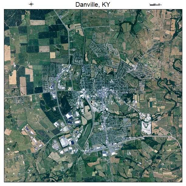 Danville, KY air photo map