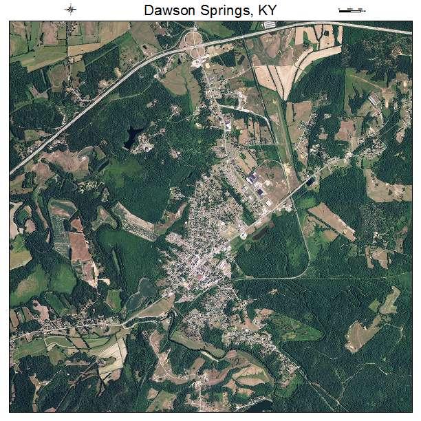 Dawson Springs, KY air photo map