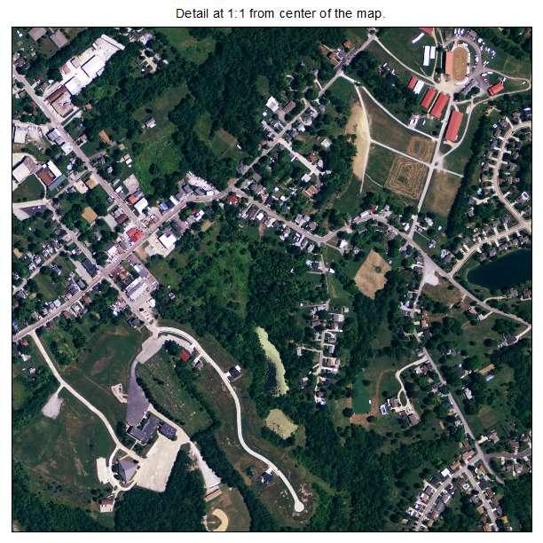 Alexandria, Kentucky aerial imagery detail