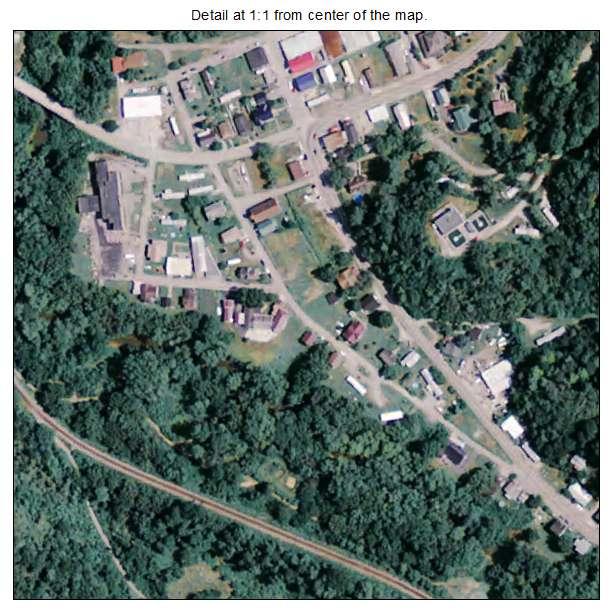 Allen, Kentucky aerial imagery detail