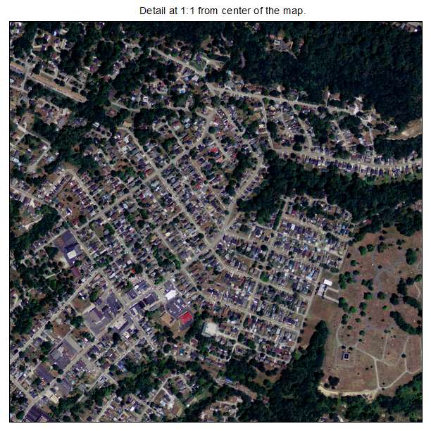 Ashland, Kentucky aerial imagery detail