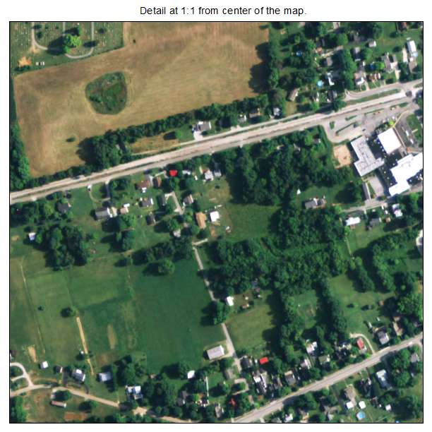 Auburn, Kentucky aerial imagery detail