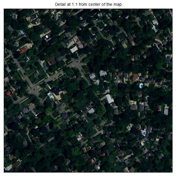 Audubon Park, Kentucky aerial imagery detail