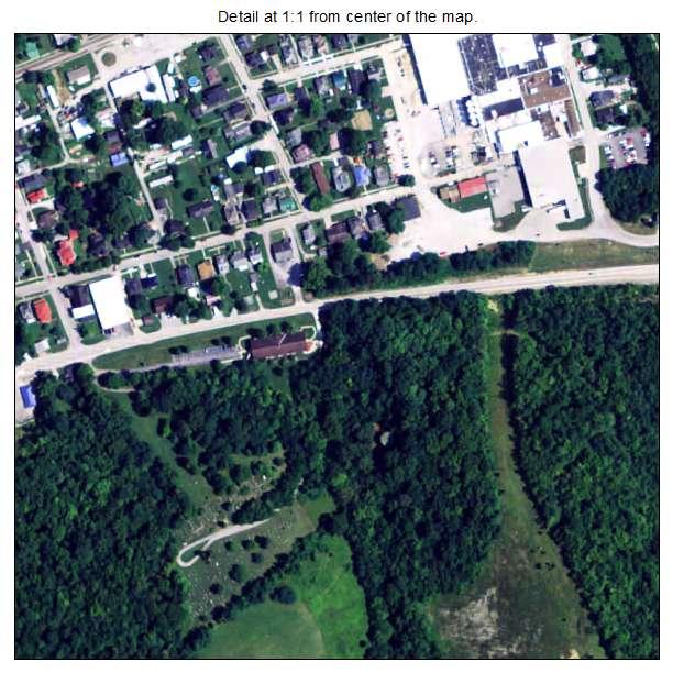 Augusta, Kentucky aerial imagery detail