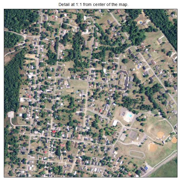 Dawson Springs, Kentucky aerial imagery detail