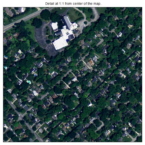 Druid Hills, Kentucky aerial imagery detail
