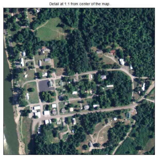 Dycusburg, Kentucky aerial imagery detail