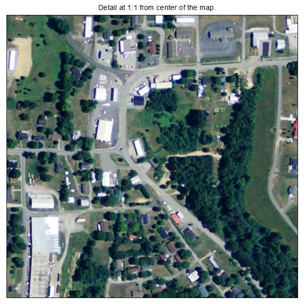 Gamaliel, Kentucky aerial imagery detail
