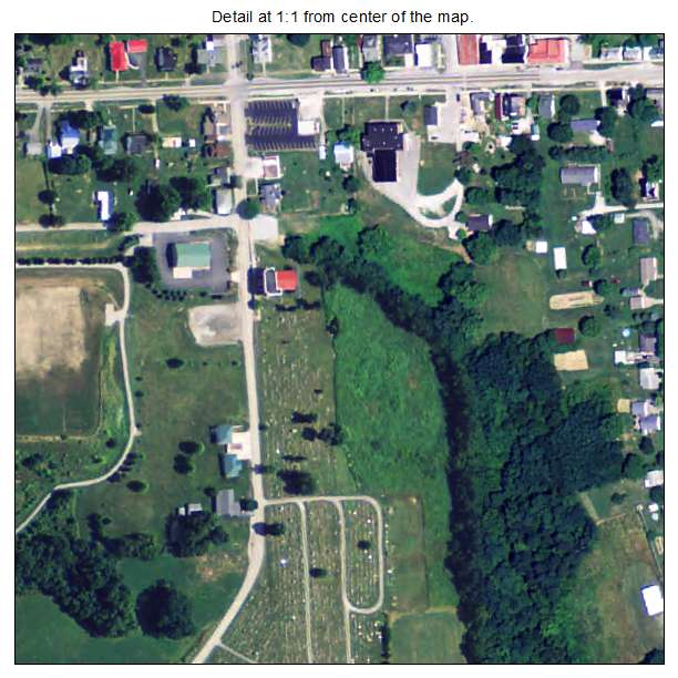 Germantown, Kentucky aerial imagery detail