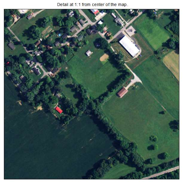 Ghent, Kentucky aerial imagery detail