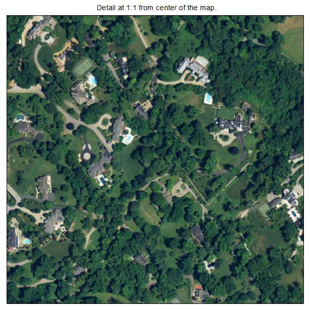 Glenview, Kentucky aerial imagery detail