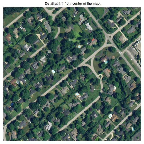 Glenview Manor, Kentucky aerial imagery detail