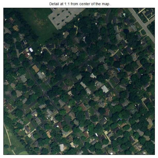 Goose Creek, Kentucky aerial imagery detail