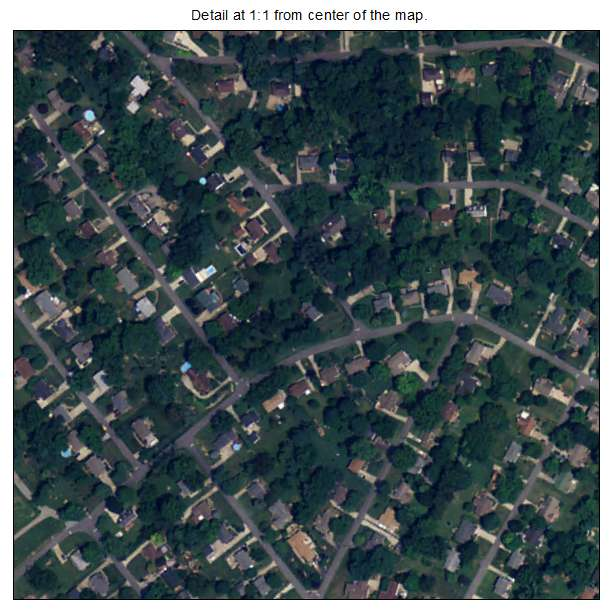 Goshen, Kentucky aerial imagery detail