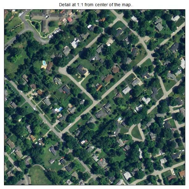 Graymoor Devondale, Kentucky aerial imagery detail