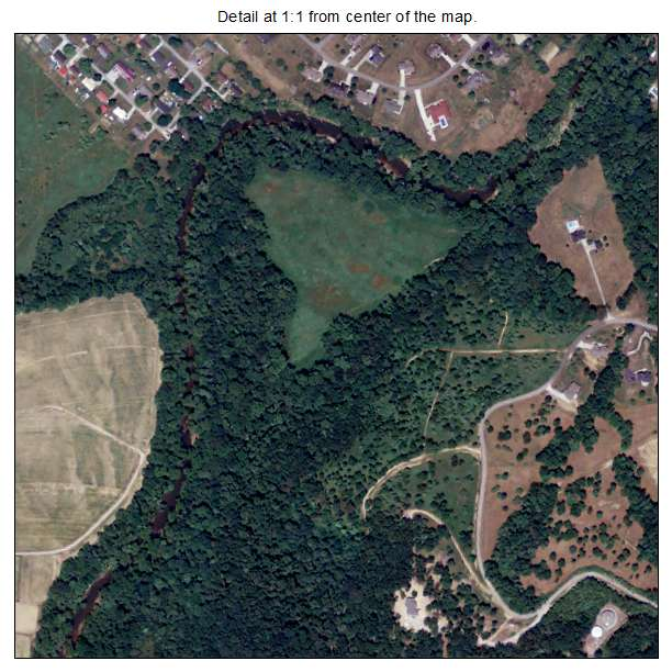 Grayson, Kentucky aerial imagery detail