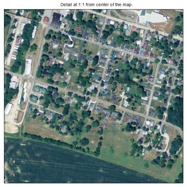 Greensburg, Kentucky aerial imagery detail