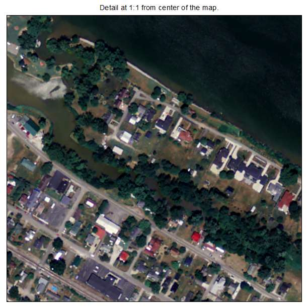 Greenup, Kentucky aerial imagery detail
