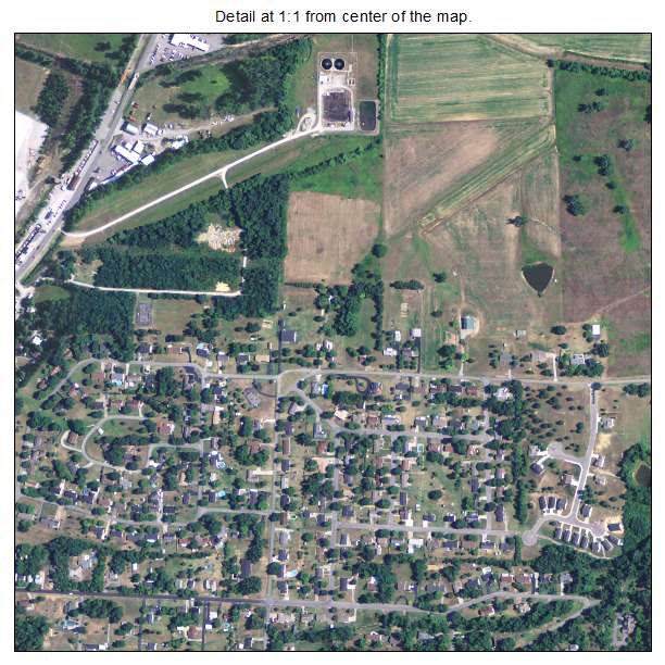 Greenville, Kentucky aerial imagery detail