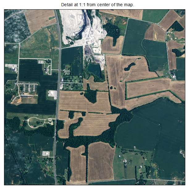 Hopkinsville, Kentucky aerial imagery detail