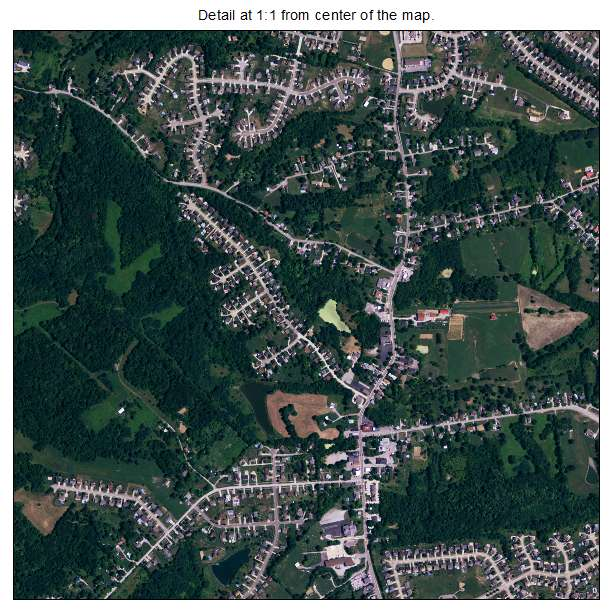 Independence, Kentucky aerial imagery detail