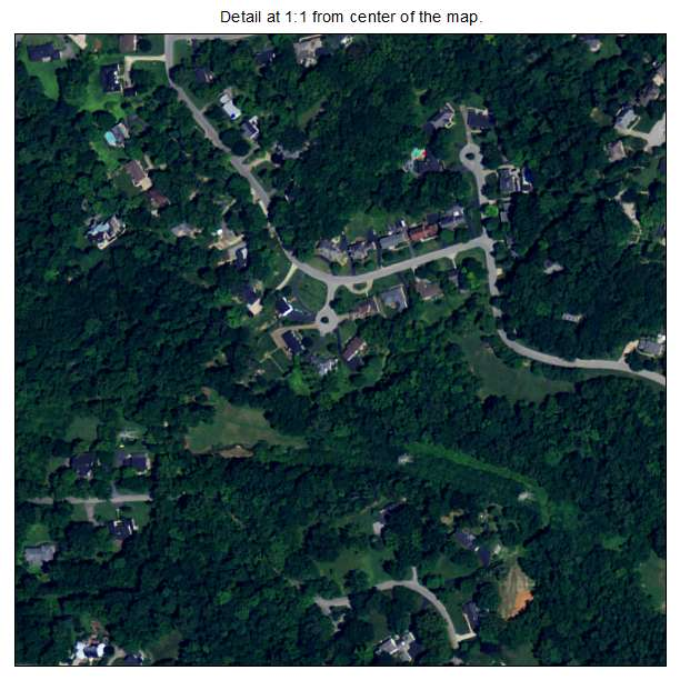 Indian Hills, Kentucky aerial imagery detail